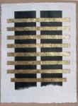 1.BLACK WINDOWS, 100cm x 135cm, paper, acryl, gold leaf, 2004