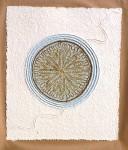 18. PRAY 48cm x 56cm x 0,5cm paper, sand, gold leaf, 2010