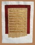 2.RED FRAMES, 113cm x 143cm, paper, gold leaf, 2004