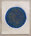 9.BLUE ROSE WINDOW, 77cm x 87cm, paper, sand, gold leaf, 2010