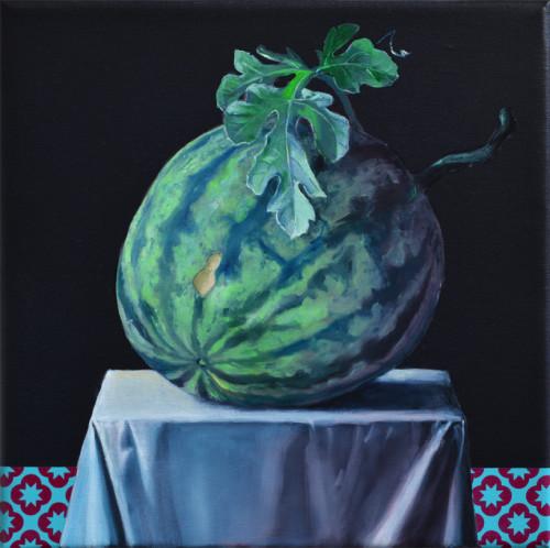 Endre's melon, 30x30, 2016