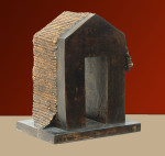 Menedék I, bronz, 34cm x 41cm x 28cm ,2002