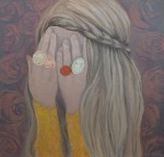 Play peekaboo 30-30 CM.,OIL ON CANVAS