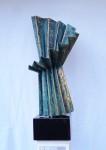 TANGÓ II 64x26x30cm(20x17x10cm) bronz, gránit, 16.6kg, 2015 (7)