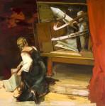 Vision makett, 180x180 cm, 2013, oil, canvas