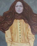 Wind in the hair 30-24cm.,oil on canvas